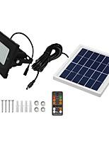 baratos -1pç 5 W Focos de LED Impermeável / Controlado remotamente / Solar Branco Frio 3.7 V Iluminação Externa / Pátio / Jardim 54 Contas LED
