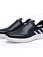 Недорогие -Муж. Комфортная обувь Полиуретан Осень На каждый день Мокасины и Свитер Нескользкий Контрастных цветов Белый / Черный / Красный