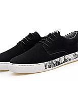Недорогие -Муж. Комфортная обувь Замша Осень На каждый день Кеды Дышащий Черный / Темно-синий / Хаки