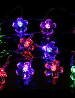 billiga -1.2m Ljusslingor 10 lysdioder Varmvit / Vit Dekorativ / Häftig Soldriven