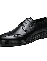 cheap -Men's Formal Shoes PU Spring & Summer / Fall & Winter Casual / British Oxfords Black / Party & Evening
