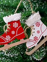 Недорогие -Рождественские украшения Праздник деревянный деревянный Рождественские украшения