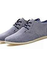 abordables -Homme Chaussures de confort Toile de jean Automne Décontracté Basket Respirable Marron / Bleu