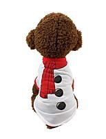 baratos -Cachorros Camiseta Roupas para Cães Estampado / Simples Branco Algodão Ocasiões Especiais Para animais de estimação Unisexo Comum / Casual