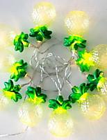 Недорогие -1m Гирлянды 10 светодиоды Желтый Декоративная Аккумуляторы AA 1 комплект