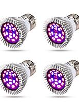 baratos -4pçs 8 W 640 lm E14 / GU10 / E26 / E27 Lâmpada crescente 18 Contas LED SMD 5730 Espectro Completo Vermelho / Azul 85-265 V