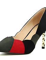 baratos -Mulheres Sapatos Confortáveis Camurça Primavera Saltos Salto Agulha Verde