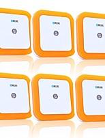 abordables -BRELONG® 6pcs LED Night Light Blanc Alimentation AC Pour les enfants / Créatif / Contrôle de la lumière 220-240 V