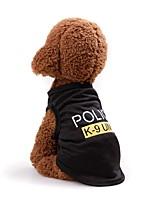 baratos -Cachorros / Gatos Colete Roupas para Cães Sólido / Carta e Número Preto / Fúcsia / Rosa claro Terylene Ocasiões Especiais Para animais de estimação Unisexo Casual / Estilo simples