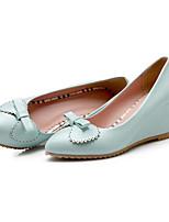 Недорогие -Жен. Комфортная обувь Полиуретан Весна Обувь на каблуках Туфли на танкетке Белый / Синий / Розовый