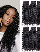 Недорогие -6 Связок Бразильские волосы Волнистые 8A Натуральные волосы Человека ткет Волосы Удлинитель Пучок волос 8-28 дюймовый Естественный цвет Ткет человеческих волос Машинное плетение