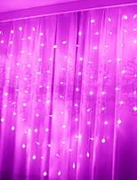 abordables -2m Guirlandes Lumineuses 30 LED Rose Décorative Piles AA alimentées 1 set