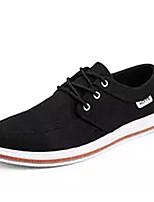 Недорогие -Муж. Комфортная обувь Полотно Осень На каждый день Кеды Нескользкий Черный / Серый / Синий