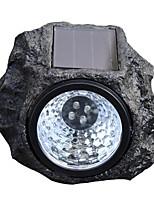 Недорогие -HKV 1шт 2 W Свет газонные Водонепроницаемый / Работает от солнечной энергии / Управление освещением Холодный белый 3.7 V Уличное освещение / двор / Сад 4 Светодиодные бусины