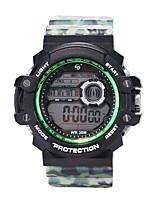 Недорогие -Муж. Спортивные часы Цифровой 30 m Защита от влаги ЖК экран Фосфоресцирующий силиконовый Группа Цифровой Винтаж Мода Черный - Синий Темно-синий Камуфляж Зеленый