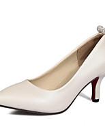 Недорогие -Жен. Балетки Полиуретан Осень Обувь на каблуках На шпильке Бежевый / Розовый / Светло-синий