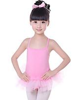 abordables -Danse classique Robes Fille Entraînement / Utilisation Coton / Polyester Dentelle / Combinaison Sans Manches Taille moyenne Robe