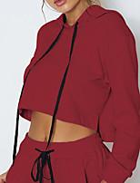 Недорогие -Жен. Классический / Уличный стиль Брюки - Однотонный Розовый M / Осень / Зима / Сексуальные платья