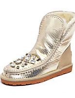 Недорогие -Жен. Комфортная обувь Замша Наступила зима Ботинки На плоской подошве Золотой / Розовый