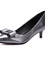 Недорогие -Жен. Балетки Полиуретан Весна Обувь на каблуках На шпильке Серый / Пурпурный / Красный
