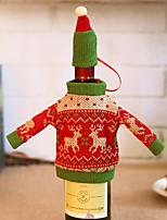 Недорогие -Мешки для вина Праздник текстильный куб Оригинальные Рождественские украшения
