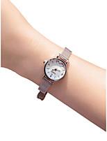 Недорогие -Жен. Наручные часы Кварцевый 30 m Творчество Новый дизайн Нержавеющая сталь Группа Аналоговый Винтаж Мода Серебристый металл - Белый Черный