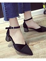 baratos -Mulheres Sapatos Confortáveis Couro Ecológico Primavera Saltos Salto Agulha Preto / Khaki