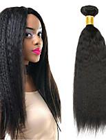 abordables -4 offres groupées Cheveux Mongoliens Droit Yaki Non Traités / Cheveux humains Cadeaux / Costumes Cosplay / Tissages de cheveux humains 8-28 pouce Couleur naturelle Tissages de cheveux humains simple