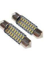 baratos -SENCART 2pcs 36mm Carro Lâmpadas 3 W SMD 3014 120-160 lm 16 LED Iluminação interior / luzes exteriores Para