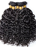 Недорогие -6 Связок Бразильские волосы Волнистые Натуральные волосы Необработанные натуральные волосы Подарки Человека ткет Волосы Сувениры для чаепития 8-28 дюймовый Естественный цвет Ткет человеческих волос