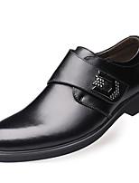 Недорогие -Муж. Кожаные ботинки Кожа Осень На каждый день / Английский Мокасины и Свитер Массаж Черный / Коричневый
