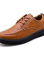 Недорогие -Муж. Комфортная обувь Полиуретан Осень На каждый день Кеды Доказательство износа Черный / Серый / Коричневый