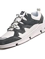 Недорогие -Муж. Комфортная обувь Полиуретан Осень На каждый день Кеды Нескользкий Белый / Черный / Серый