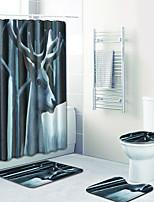 Недорогие -1 комплект Традиционный Коврики для ванны 100 г / м2 полиэфирный стреч-трикотаж Животное Прямоугольная Ванная комната Cool