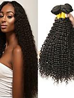 abordables -Lot de 3 Cheveux Indiens Bouclé 8A Cheveux Naturel humain Tissages de cheveux humains Extension Bundle cheveux 8-28 pouce Naturel Couleur naturelle Tissages de cheveux humains Fabriqué à la machine