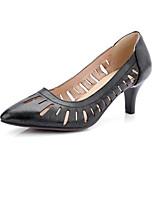 Недорогие -Жен. Балетки Полиуретан Осень Обувь на каблуках На шпильке Белый / Черный / Красный