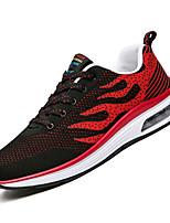 Недорогие -Муж. Комфортная обувь Полиуретан Осень На каждый день Кеды Нескользкий Черный / Темно-синий / Черный / Красный