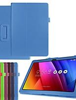 Недорогие -Кейс для Назначение Asus ASUS ZenPad 10 Z301ML / ASUS ZenPad 10 Z301MFL / ASUS ZenPad 10 Z301MF Защита от удара / со стендом / Ультратонкий Чехол Однотонный Твердый Кожа PU