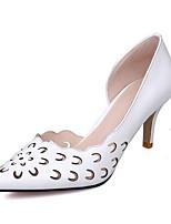 Недорогие -Жен. Комфортная обувь Наппа Leather Весна Обувь на каблуках На шпильке Белый / Красный