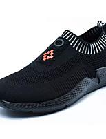 baratos -Homens Sapatos Confortáveis Couro Ecológico Primavera Mocassins e Slip-Ons Preto