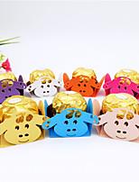 Недорогие -Кубик Картон Бумага Фавор держатель с Вышивка бисером в виде цветов / Узоры / принт Подарочные коробки - 50шт