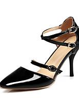Недорогие -Жен. Балетки Полиуретан Весна Обувь на каблуках На шпильке Черный / Красный / Телесный