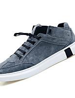 Недорогие -Муж. Комфортная обувь Полиуретан Осень Кеды Черный / Серый
