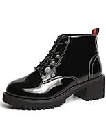 billiga -Dam Fashion Boots PU Höst vinter Stövlar Bastant klack Rundtå Korta stövlar / ankelstövlar Svart / Brun / Armégrön