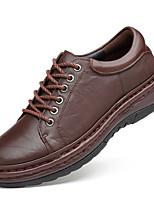Недорогие -Муж. Официальная обувь Наппа Leather Осень Деловые / Английский Туфли на шнуровке Нескользкий Желтый / Коричневый