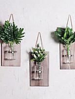 abordables -Fleurs artificielles 0 Une succursale Fixation Murale Rustique / Rétro Vase Guirlande et Fleur Murale