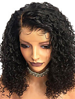 Недорогие -Remy Лента спереди Парик Бразильские волосы Кудрявый Парик Глубокое разделение 250% Плотность волос Лучшее качество Горячая распродажа Толстые Жен. Длинные