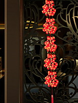 baratos -1.5m Cordões de Luzes 5 LEDs Vermelho Decorativa 220-240 V 1conjunto