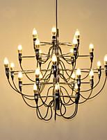 baratos -Ecolight™ Estilo de vela / Sputnik Lustres Luz Ambiente Galvanizar Metal Criativo, Novo Design, Estilo Vela 110-120V / 220-240V Lâmpada Não Incluída / E12 / E14 / FCC
