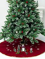 Недорогие -Праздничные украшения Рождественский декор Рождество Декоративная Светло-желтый / Темно-красный 1шт